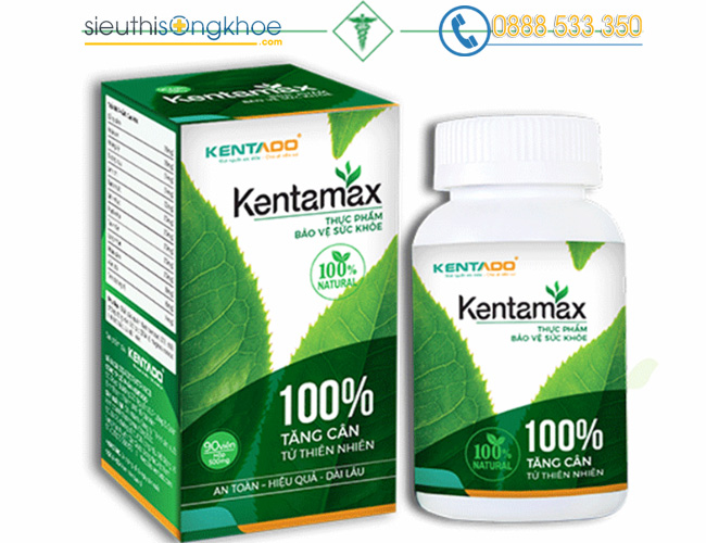 thành phần thuốc tăng cân Kentamax có thảo dược Hoài sơn