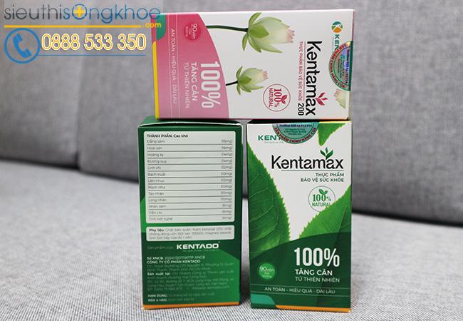 Thành phần thuốc tăng cân Kentamax có thảo dược đương quy