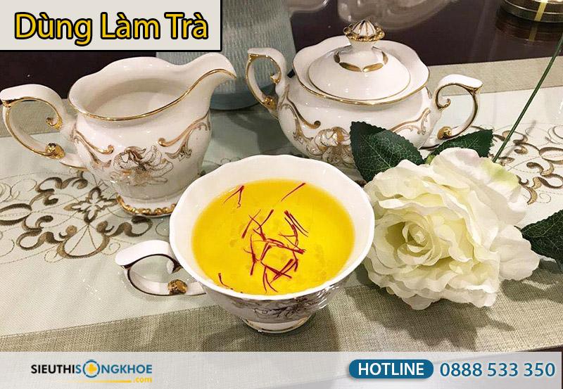 nhuỵ hoa nghệ tây saffron làm trà