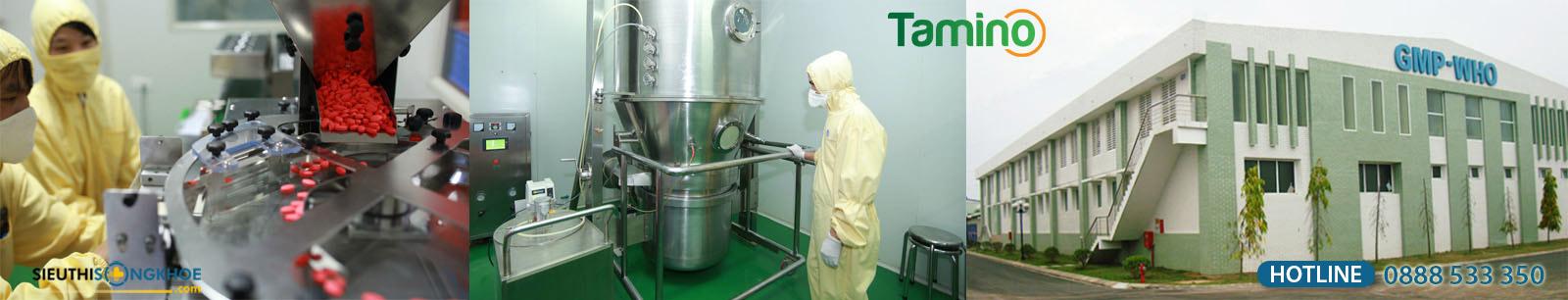 quy trình sản xuất viên uống tăng cân tamino