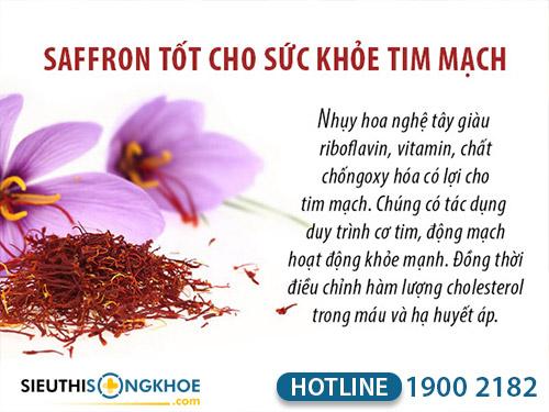 nhụy hoa nghệ tây saffron việt nam có tốt không