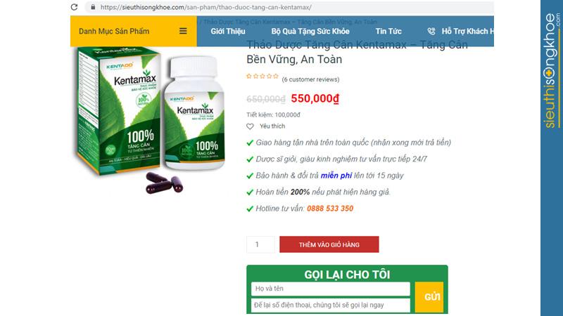 Kentamax mua ở đâu tại TP Hồ Chí Minh chính hãng