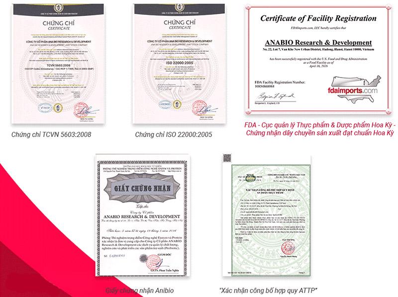 giấy chứng nhận bio trĩ