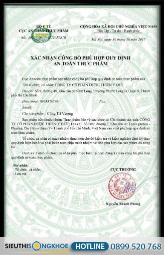 giấy chứng nhận công trĩ vương