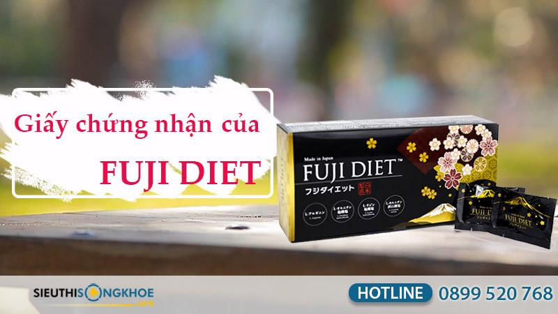 giấy chứng nhận viên uống chuyển hóa mỡ fuji diet