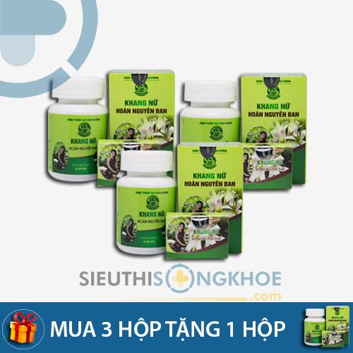 Khang Nữ Hoàn Nguyên Đan Viên Nang- liệu trình 3 bộ tặng 1 bộ - Hỗ trợ điều trị Viêm Sinh dục, U xơ, U nang cho chị em