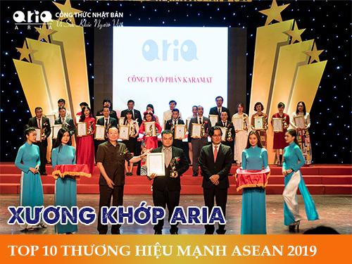 Liệu trình sử dụng Xương khớp Aria - TOP 10 THƯƠNG HIỆU MẠNH ASEAN 2019