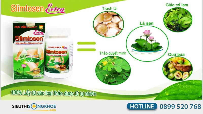 thành phần có trong viên nang slimtosen extra