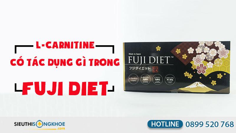 L-Carnitine thành phần viên uống giảm cân Fuji Diet