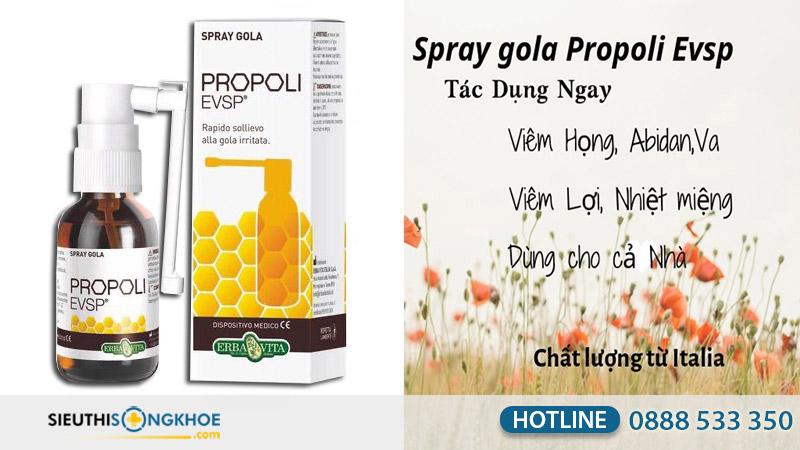 công dụng Spray gola propoli evsp