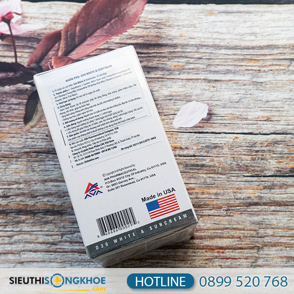 D30 White & Suncream - Viên Uống Hỗ Trợ Trắng Da Đến Từ Mỹ