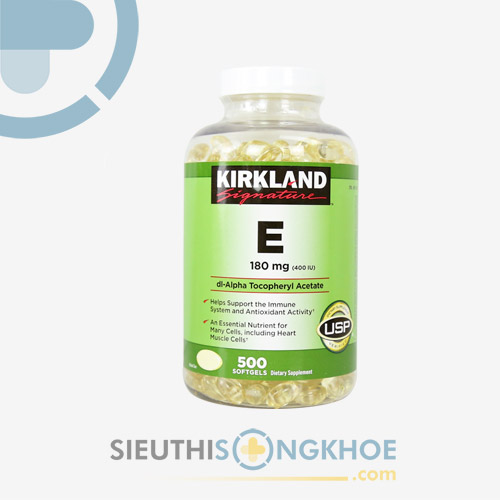 Kirkland Signature Vitamin E 400iu - Viên Uống Giúp Đẹp Da
