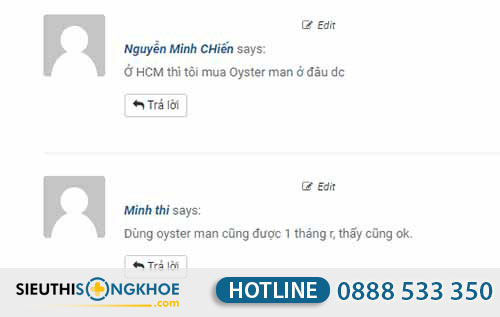 oyster man mua ở đâu