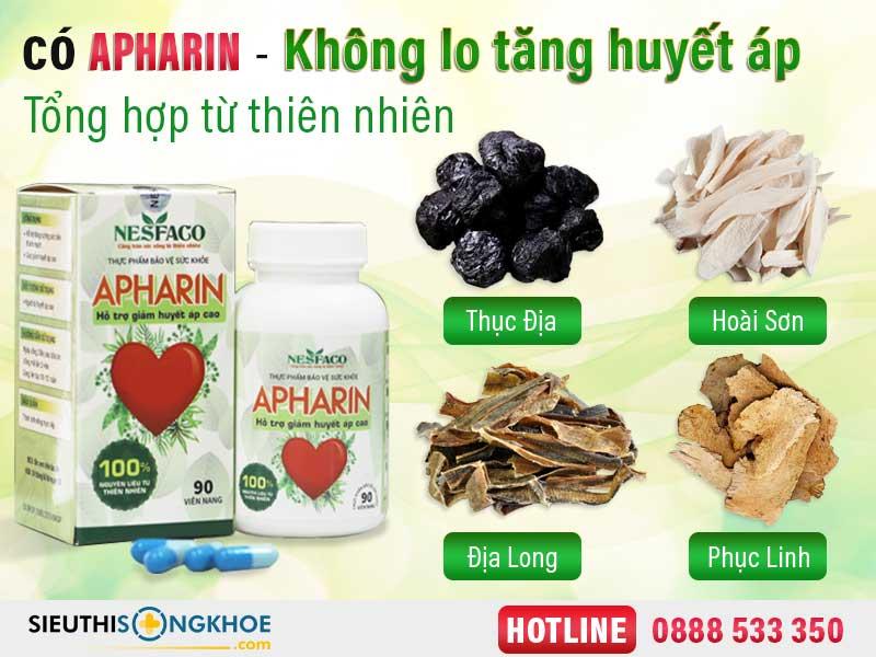 thành phần huyết áp apharin