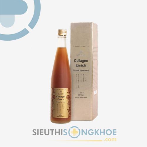 Hebora Collagen Enrich - Nước Uống Hoa Hồng Đẹp Da Thon Dáng