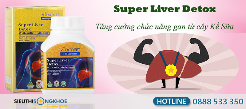 vitatree super liver detox with milk thistle 38000