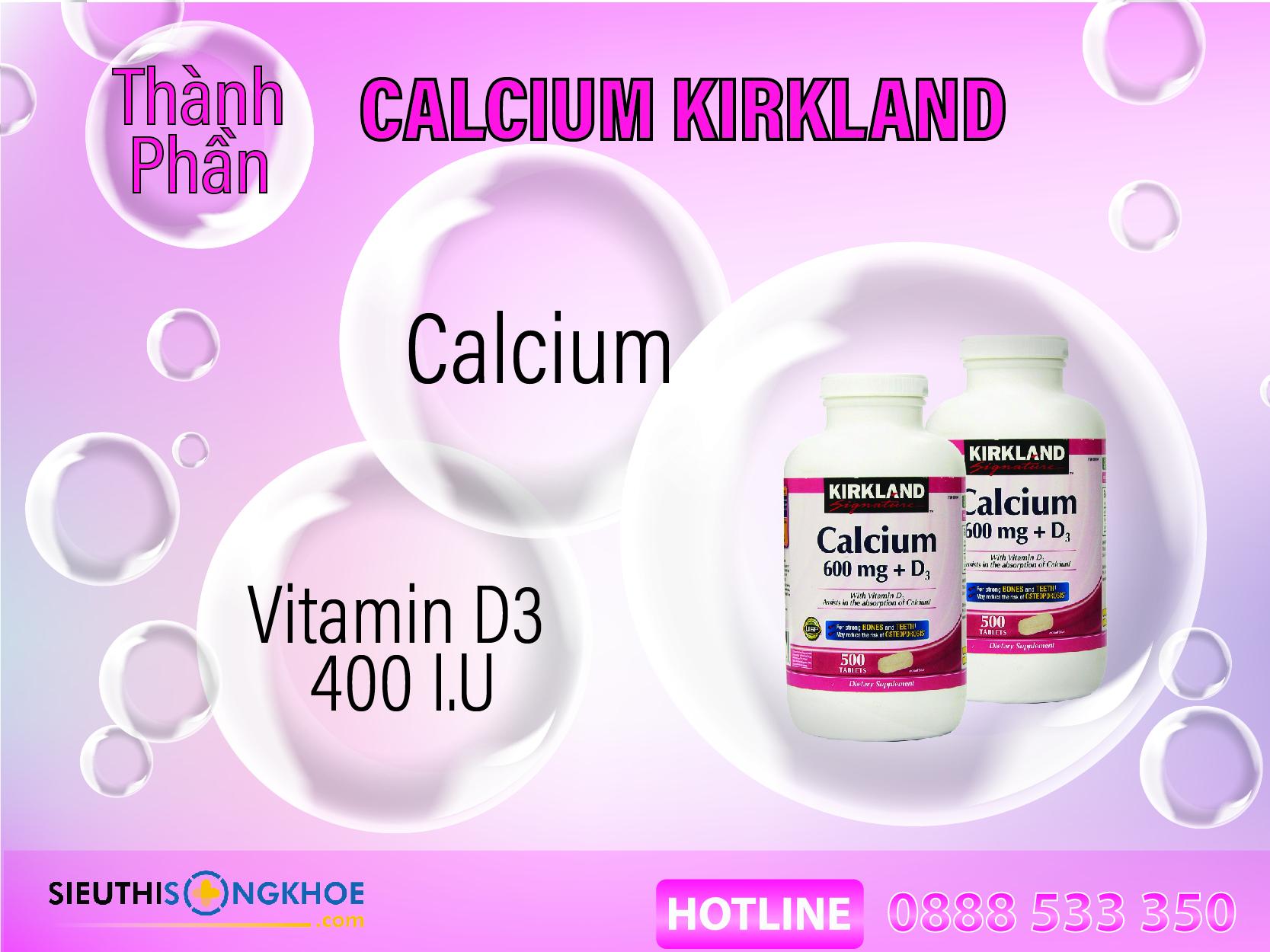 thành phần calcium kirkland