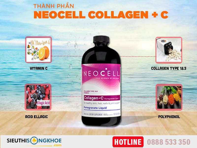 thành phần collagen c neocell lựu dạng nước