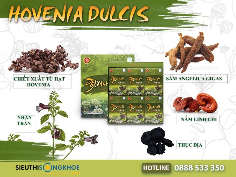 thành phần cong dung hovenia dulcis thunberg