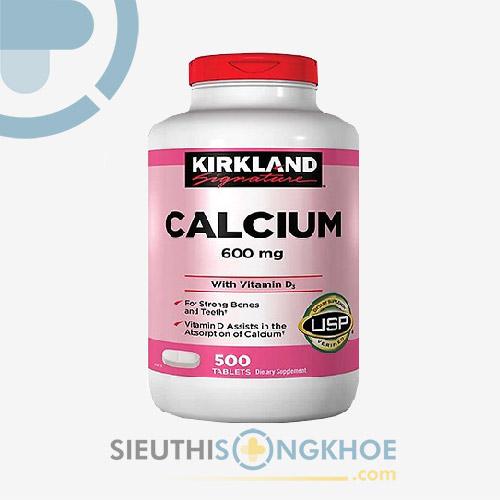 Calcium Kirkland 600mg - Viên Uống Bổ Sung Canxi Giúp Xương Chắc Khỏe