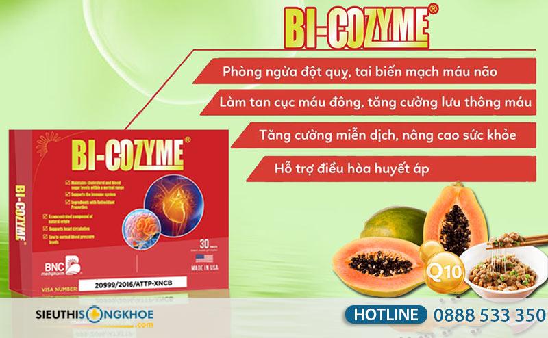 Bi-Cozyme - Viên Uống Hỗ Trợ Ngăn Ngừa Nhồi Máu Cơ Tim
