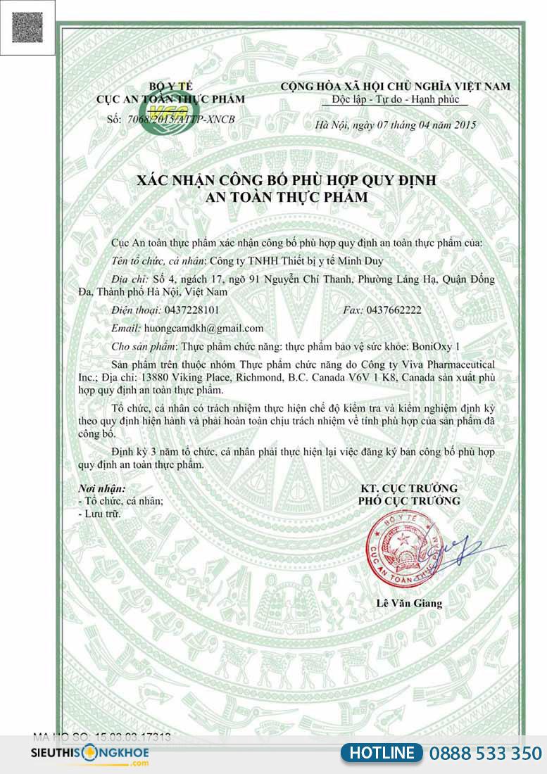 giấy chứng nhận bonioxy1
