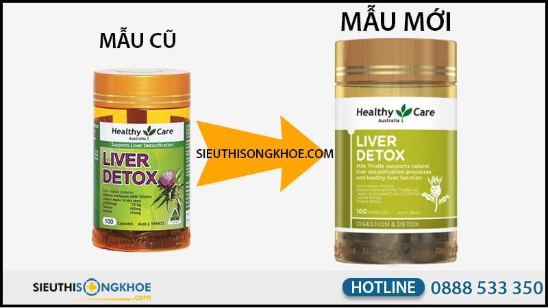 healthy care liver detox mẫu mới