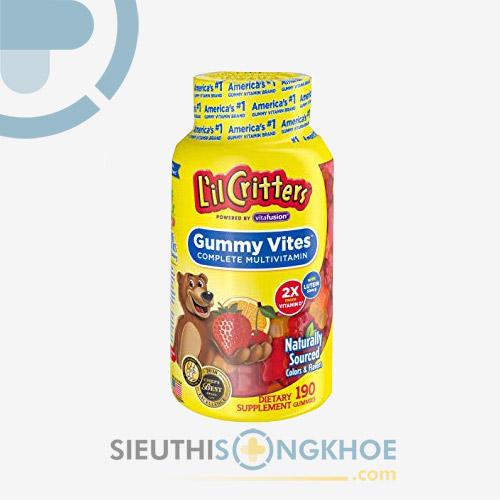Kẹo Dẻo L'il Critters Gummy Vites - Bổ Sung Vitamin Và Dưỡng Chất Cho Bé
