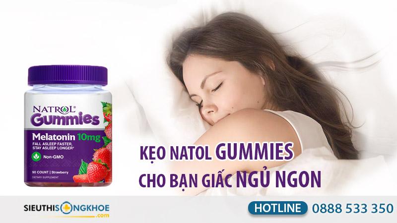 kẹo dẻo ngủ ngon natrol gummies melatonin