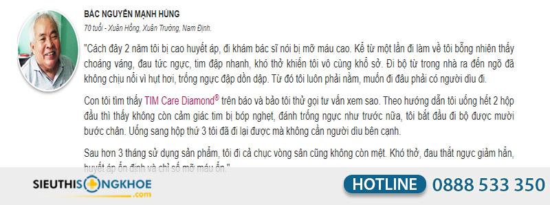 phản hồi tim care diamond
