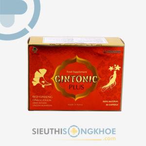 Gintonic Plus – Viên Uống Hỗ Trợ Giảm Đau Đầu, Chống Mệt Mỏi, Cải Thiện Tuần Hoàn Não