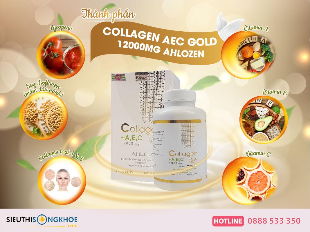 thành phần collagen aec gold ahlozen