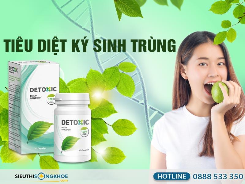 viên uống tiêu diệt ký sinh trùng detoxic