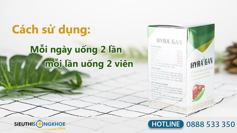 hướng dẫn sử dụng sản phẩm hyra gan