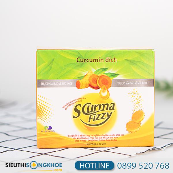 Scurma Fizzy - Viên Sủi Hỗ Trợ Giảm Viêm Loét Dạ Dày Hiệu Quả