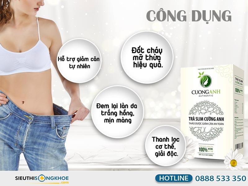 công dụng trà giảm cân cường anh