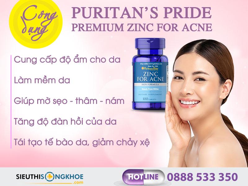 cong dung vien uong kem tri mun zinc for acne