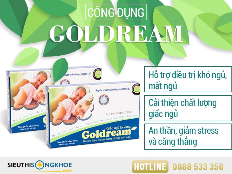 công dụng goldream