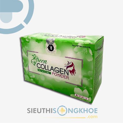 Green Collagen Powder - Gói Diệp Lục Hỗ Trợ Thanh Nhiệt, Thải Độc