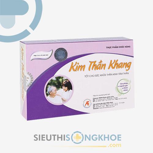 Kim Thần Khang - Viên Uống Hỗ Trợ Dưỡng Tâm, An Thần, Giúp Ngủ Ngon