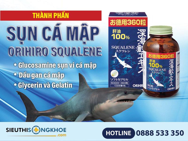 thành phần sụn cá mập orihiro squalene