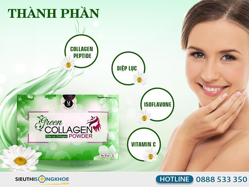 thành phần green collagen powder