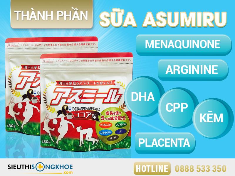thành phần sữa asumiru