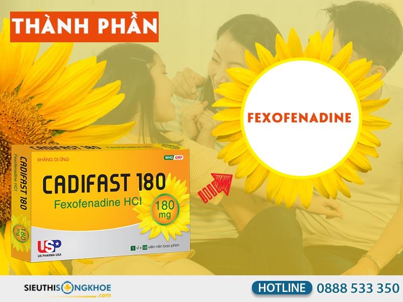 thanh phan thuoc fexofenadine