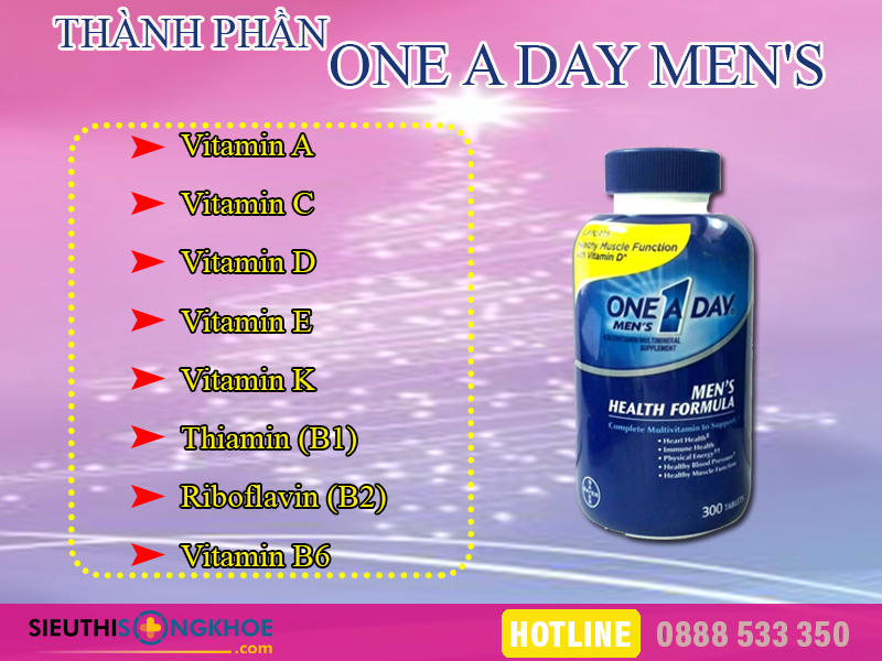 thanh phan vien bo sung dinh duong one a day men's