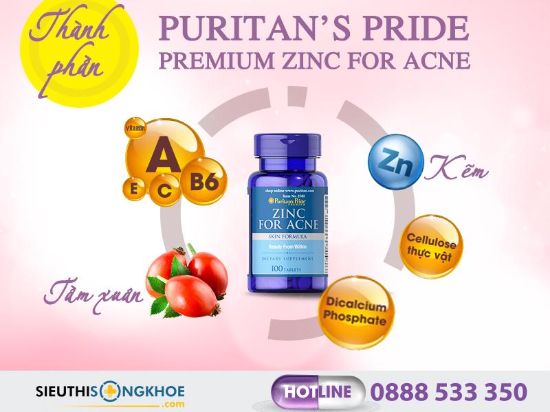 thanh phan vien uong kem tri mun zinc for acne