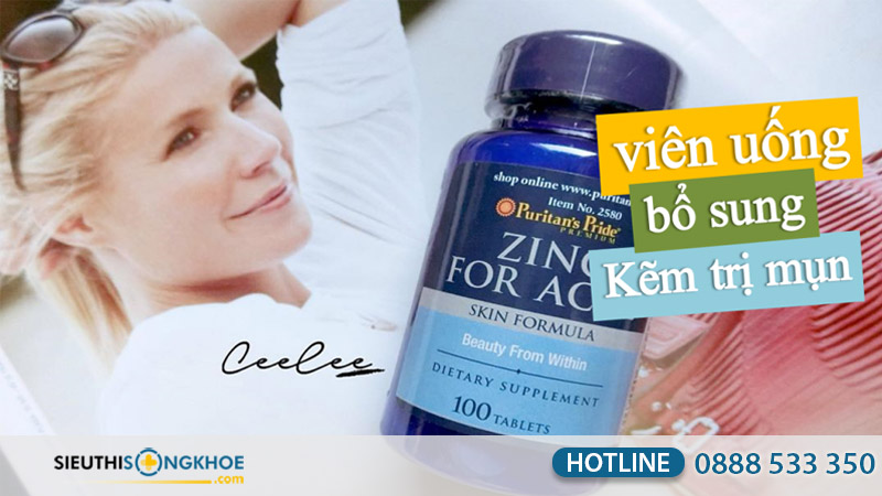 viên uống kem trị mụn purtian's pride zinc for acne có tốt không
