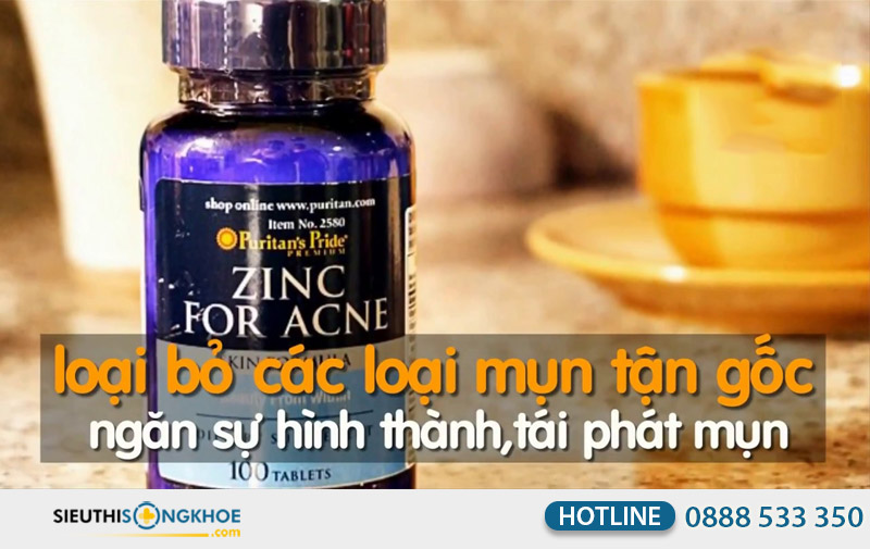 vien uong kem tri mun purtian's pride zinc for acne co tot khong