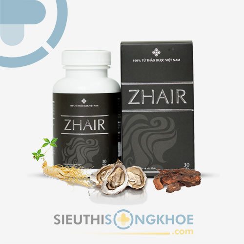 Zhair - Hỗ Trợ Trị Chứng Rụng Tóc, Hói Đầu, Tóc Bạc Sớm