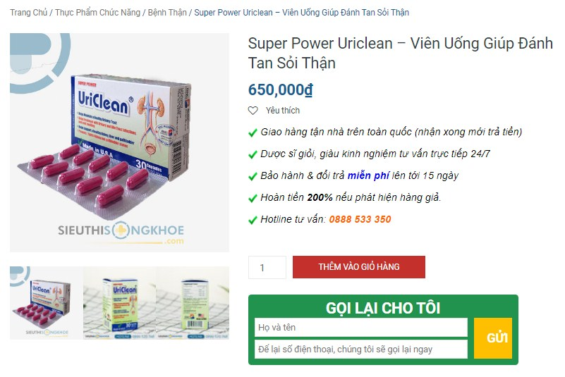 chon mua san pham super power uriclean